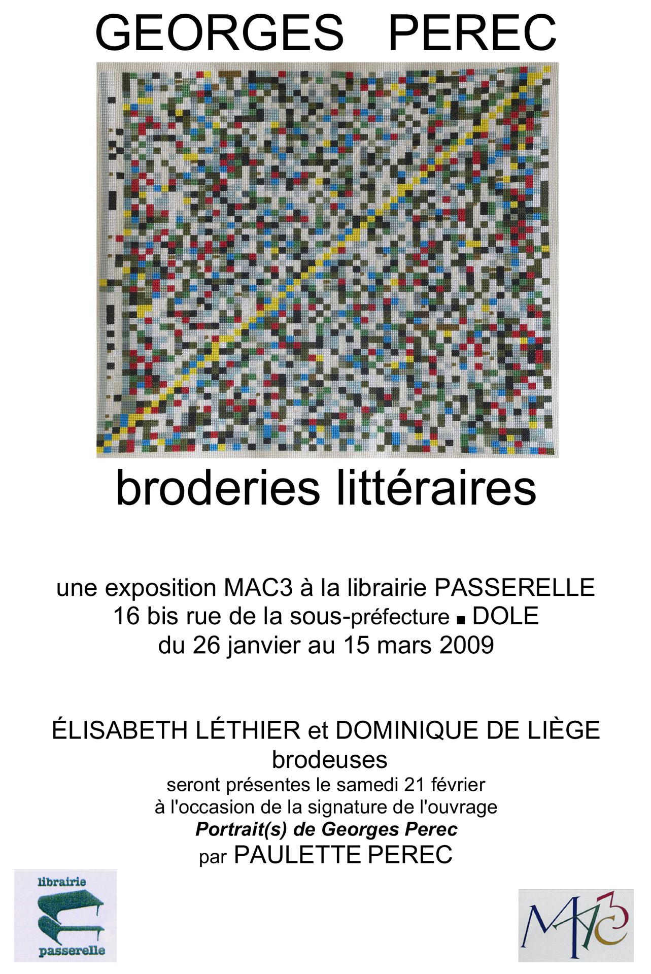 Exposition Broderie Littéraires - Affiche