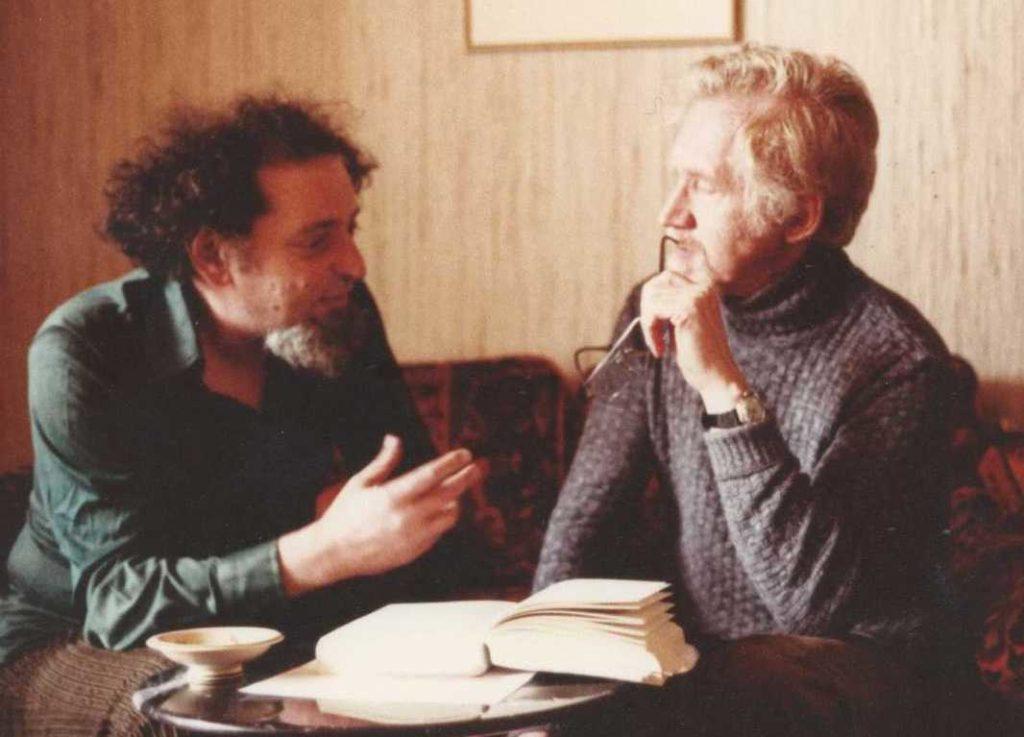 Photo de Georges Perec et son traducteur allemand, Eugen Helmlé